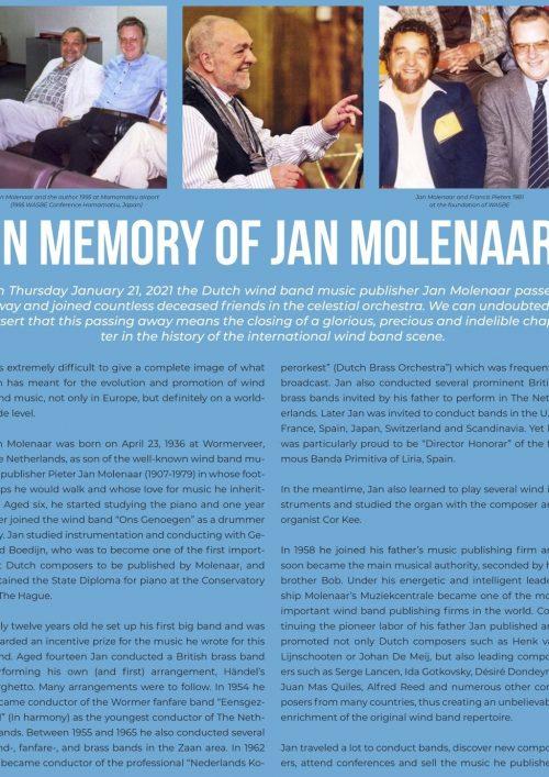 In Memoriam Jan Molenaar1